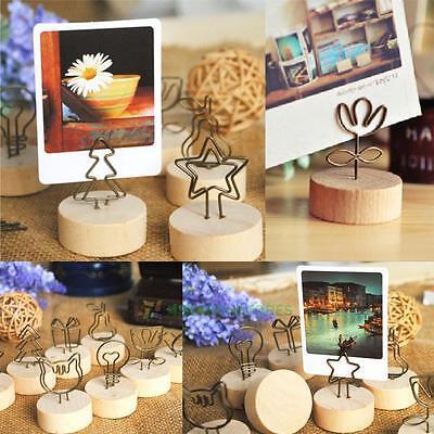 9Pcs/Set Note Memo Holder Desk Table Decoration Picture Photo Frame Clip Display