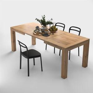 Detalles de Mobili Fiver, Mesa de cocina extensible, modelo Iacopo, color  Madera Rustica