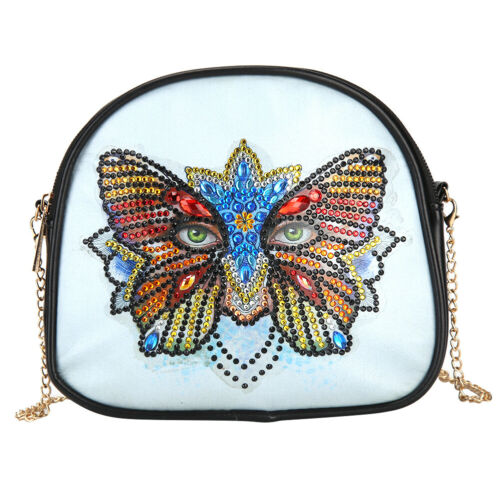 5D DIY Special Shaped Diamond Painting Leather Chain Messenger Bag Purse Wallet