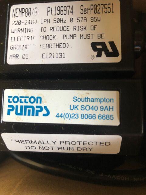 Totton PCQ 12//10  Diaphragm Pump  PT 226950 PCQ12//10 SER T145038