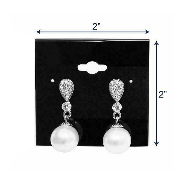 100 14K Gold White Earring Puff Cards Case Display 1.5/""
