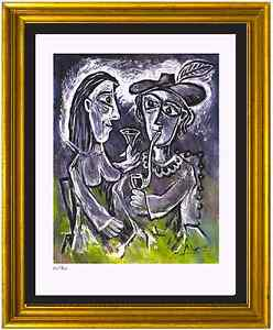 Pablo-Picasso-Signed-amp-Hand-Numbered-Ltd-Ed-034-The-Couple-034-Litho-Print-unframed