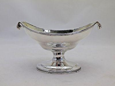 1795 Georgian Antique Silver Master Salt Robert & David Hennell (745-9-GKY)