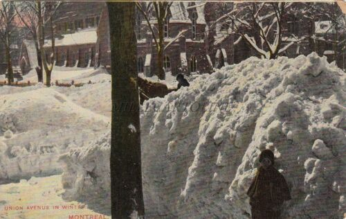 CANADA Montreal Union Avenue in Winter 1913