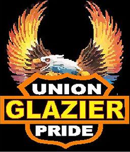Glazier hard hat sticker CGLZ-9