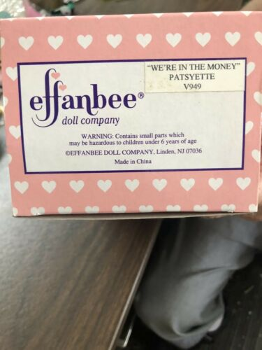 Effanbee We/'re in the Money  Patsyette 10/'/'  Special edition  Doll New in Box