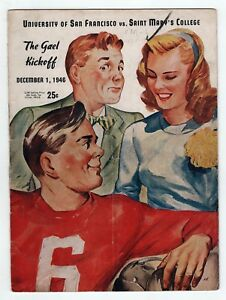 1946 University Of San Francisco College Football Programme Saint Mary's St Ncaa Peut êTre à Plusieurs Reprises Replié.