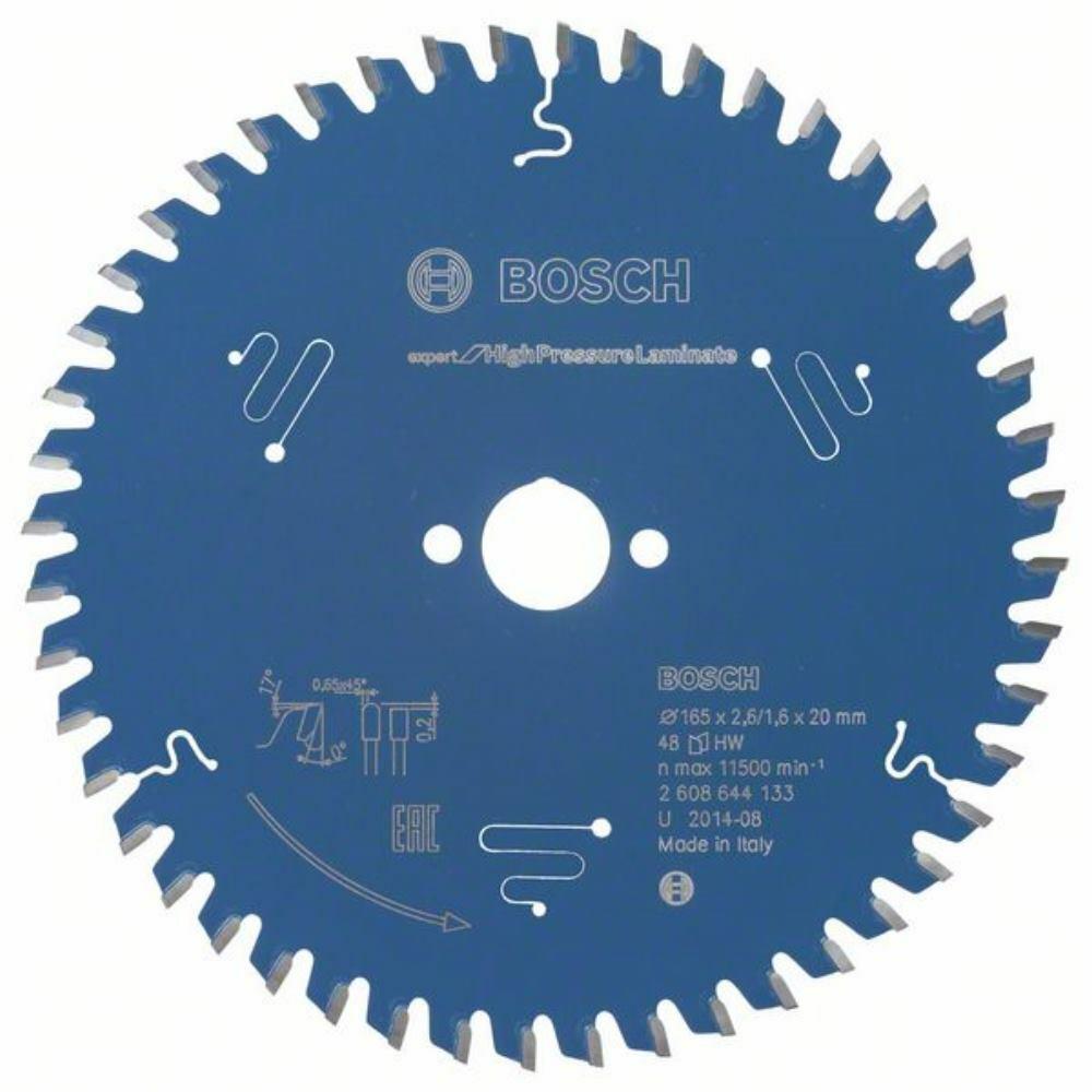Bosch Kreissägeblatt Expert for High Pressure Laminate. 165 x 20 x 2.6 mm. 48