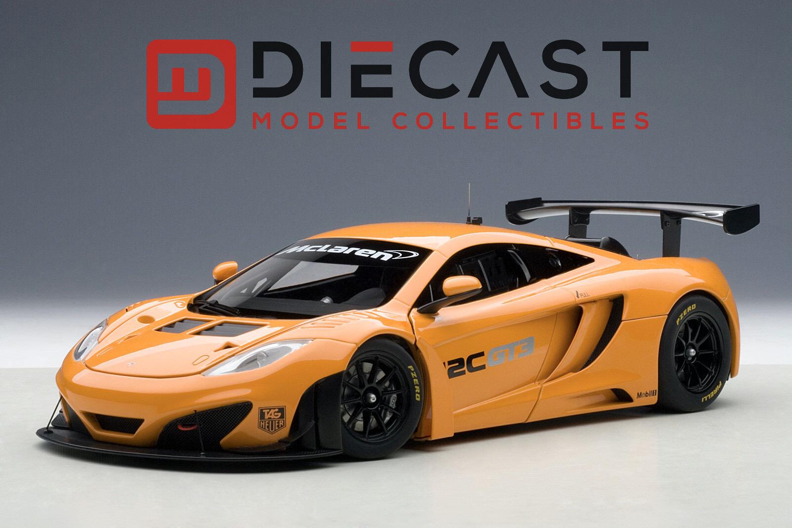 AUTOART 81340 MCLAREN 12C GT3 PRESENTATION CAR, METALLIC orange 1 18TH SCALE