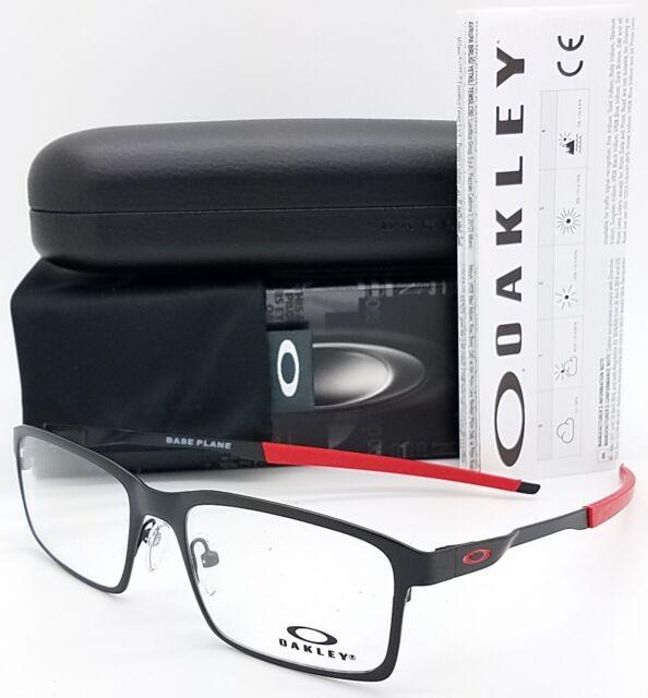 17d62729d0 Eyeglasses Oakley Base Plane 3232-05 52 Satin Black Red for sale ...