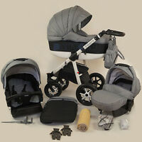 Limited Sale Baby Pram Stroller Car Seat - Pushchair 3in1 Buggy Swivel Poussette