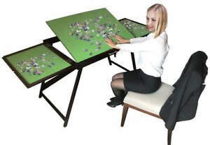 Image Is Loading Jigsaw Puzzle Table Storage Folding Tilting Table 1500