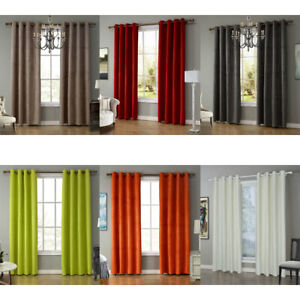 Solid Color Blackout Curtains For Living Room Bedroom Window Treatment Drapes Ebay