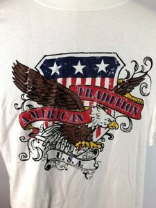 c2717392 Details about Vintage American Tradition USA Bald Eagle Graphic Crew Neck T  Shirt Adult XL