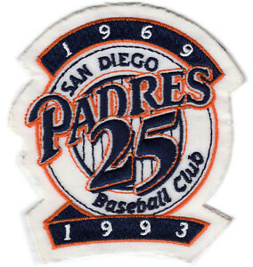 1993 SAN DIEGO PADRES MLB BASEBALL 25TH YEAR ANNIVERSARY JERSEY SLEEVE PATCH