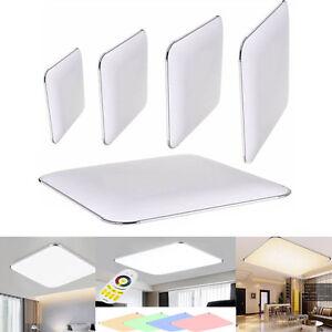 LED-Ultraslim-Deckenleuchte-Silber-Wohnzimmer-Deckenlampe-Dimmbar-Flurleuchte
