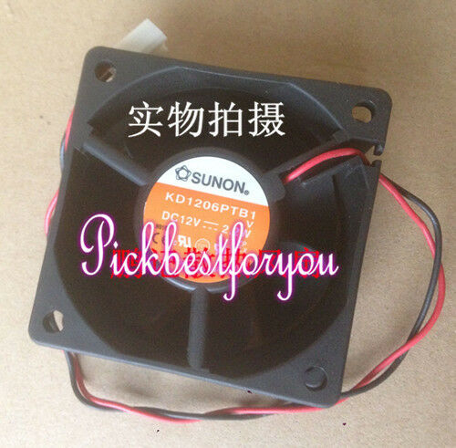 SUNON KD1206PTB1 Ball bearing Cooling fan DC12V 2.2W 60*60*25mm 2pin MH16 QL TH2