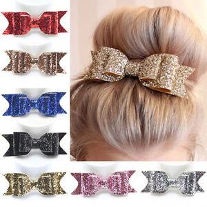 Kleidung & Accessoires Big Sequins Haarschleife Satin Ansteckschleife Haarspange Haarclip Haarklammer Moderate Kosten Damen-accessoires