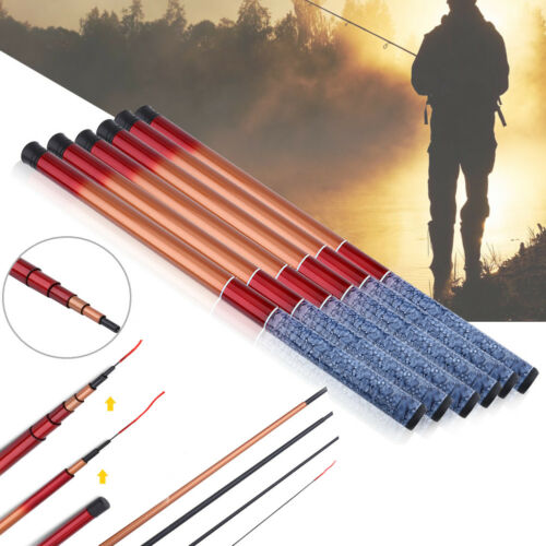 Durable Glass Steel Hand Pole Telescopic Fishing Rod Travel Tackle 1.8-3.6m JS