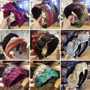 Women-Girl-Alice-Hair-Band-Hoop-Headband-Twist-Hairband-Knot-Cross-Headwrap-UK