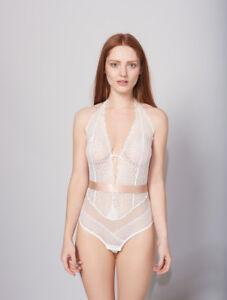 clearance sale low price fantastic savings Details about New Lepel London Sophia Ivory Body Bodysuit Teddy Underwear  UK 14 UC24
