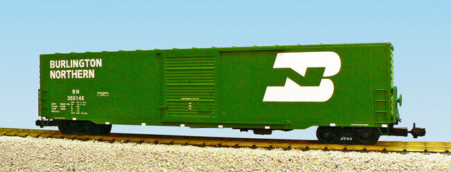 USA Trains G Scale 60 Ft Single Door Box Car R19406A  Burlington Northern Single