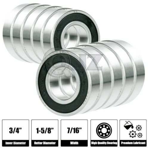 10x SR12-2RS 3//4in x 1-5//8in x 7//16 SR12RS Stainless inch Steel Ball Bearing New
