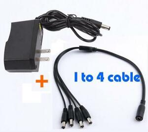 Sunvision 12V 2A AC Adapter for CCTV Cameras 1to4 Splitter Power Supply