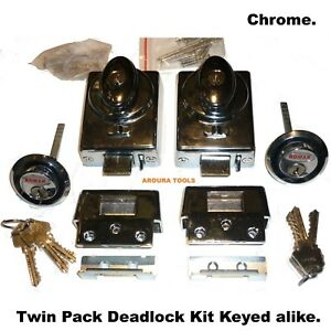 DEAD-LOCK-KIT-WITH-SAFETY-RELEASE-TWIN-PACK-KIT-WITH-6-KEYS-TOP-QUALITY-NEW