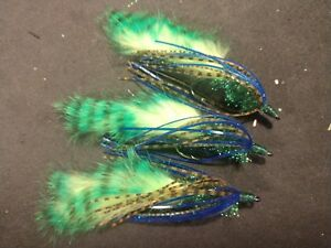 Olive//FireTiger Any Type Bass Fly Sold Per 3 FREE SHIPPING