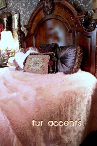 Pink Shag Bedspread Soft Minky Cuddle Faux Fur Twin Size