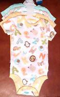 Koala Baby Boys Short Slv Bodysuits Set Of 4 Zoo Animal/stripes/solids Size 9 Mo