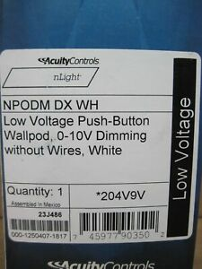 NPODM DX WH LOW VOLTAGE PUSH-BUTTON WALLPOD