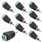 10Pcs Phono Speaker Wire cable to Audio male RCA Connector Adapter Jack Plug LED