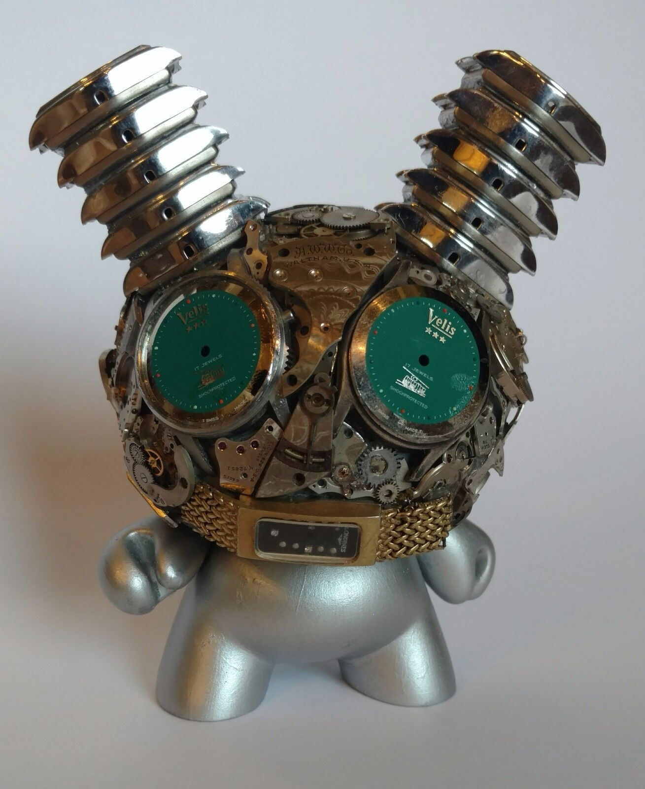 Kidrobot Exquisite Steampunk Watch Parts Dunny Series Blau EYES Dan Tanenbaum