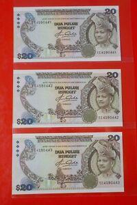 RM20 M'sia AZIZ TAHA Last Prefix TE 4590441,42,43 Running Number UNC