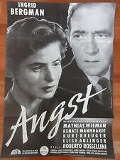 Ingrid Bergman ANGST Mathias Wieman Kinoplakat Roberto Rossellini