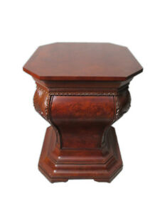 Rational Wooden Carved Modern Side Table # D7690 Possessing Chinese Flavors Furniture