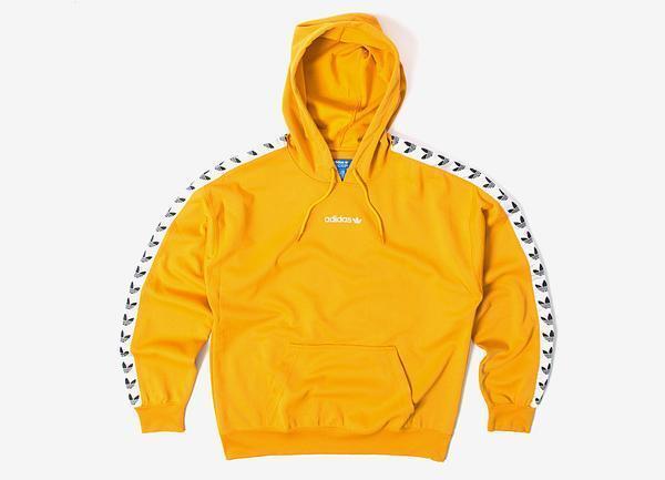 Adidas Originals Trefoil Logo Adicolor TNT gezapft Hoodie gelb bs4669