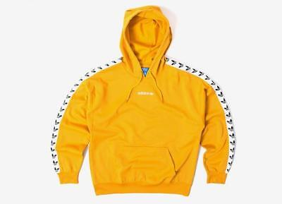 Adidas Originals Trefoil Logo Adicolor TNT Tapped Hoodie Yellow BS4669 | eBay