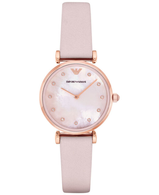8167f2289e Armani Retro Pink Mother of Pearl Dial Ladies Watch Item No. AR1958