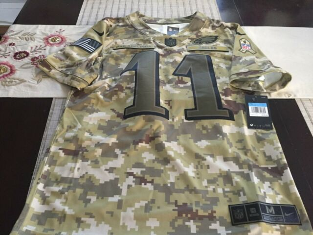 super popular 6d89f 080cb Nike Carson Wentz Philadelphia Eagles Salute to Service Jersey Men's M