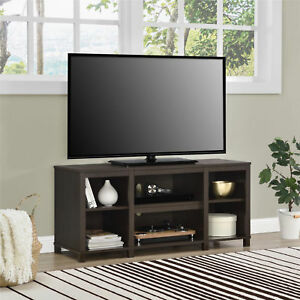 new products ca639 e08ea Details about Tv Stand For 50 Inch Tv Media Center Storage Shelves Wood  Flat Screen Furniture