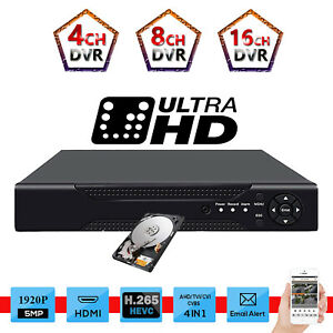 4//8//16 Channel AHD HDMI DVR Smart CCTV 1080N Video Recorder Alarm Remote Monitor