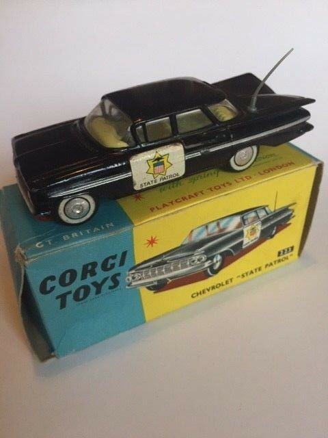Corgi Toys 223 Chevrolet State Patrol Car In Original Box