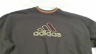 Vintage Adidas Black Embroidered Sweat Shirt Size S