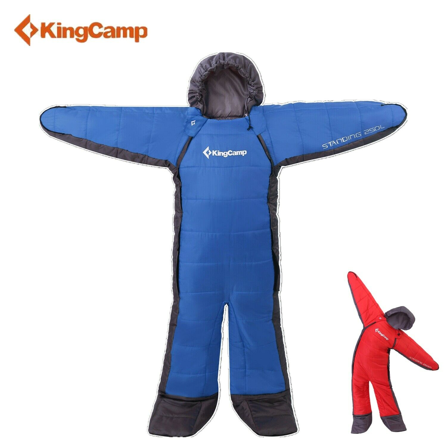 KingCamp Wearable Sleeping Bags for  Adults Bodysuit Standing Free Walker w  Arms  offering store
