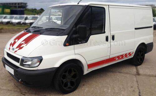 Custom Van Body Stripes ST Sport Connect MK6 Transit Bonnet and Side Stripes