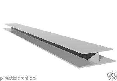 WHITE PLASTIC UPVC PVC SOFFIT CLADDING JOINTING H TRIM PROFILE 5m - 2 X 2.5m