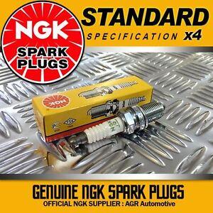SUZUKI SJ410//Santana 1.0 09//82-04//90 F10A NGK Spark Plugs x 4 BPR5E